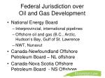 federal jurisdiction over oil and gas development
