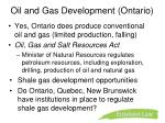 oil and gas development ontario