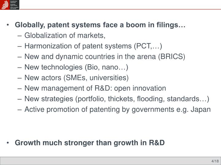 Globally, patent systems face a boom in filings…