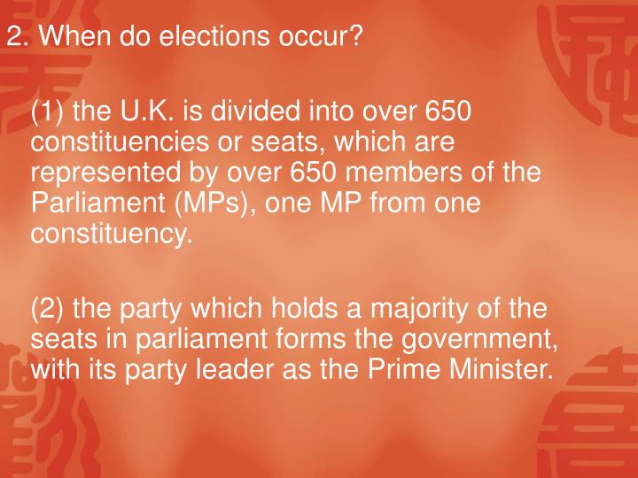 2. When do elections occur?