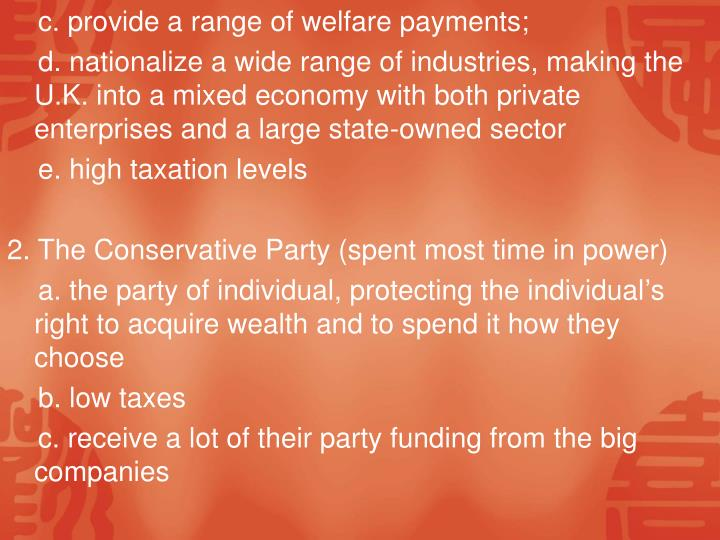 c. provide a range of welfare payments;