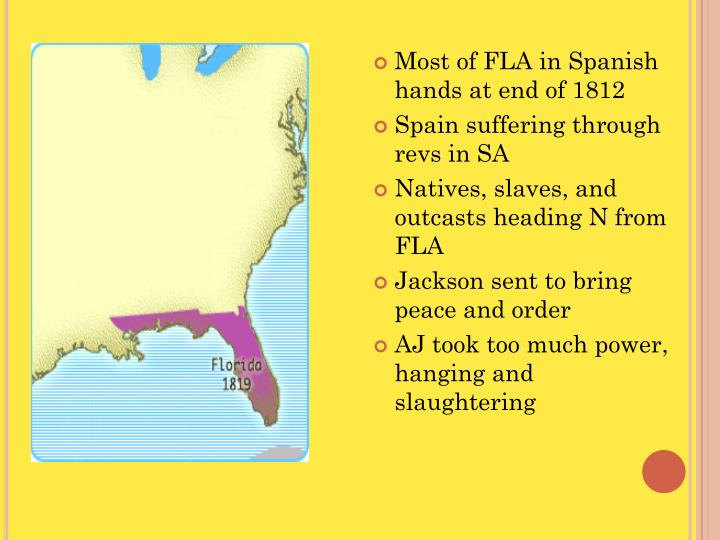 Most of FLA in Spanish hands at end of 1812