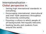 internationalisation global perspective in
