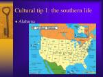 cultural tip 1 the southern life
