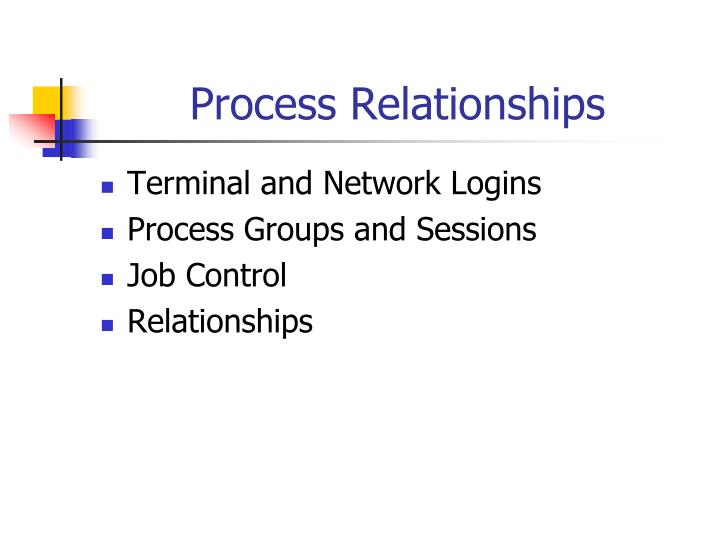 process relationships n.