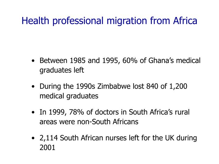 Health professional migration from Africa