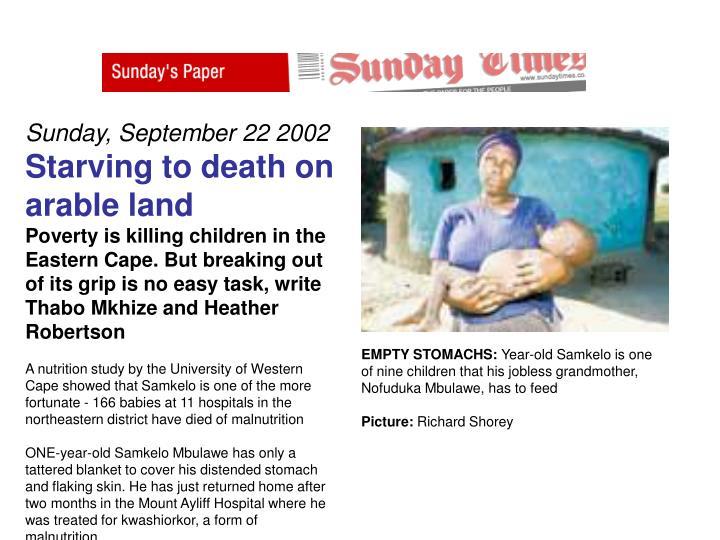 Sunday, September 22 2002