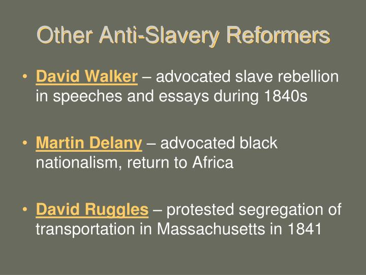 Other Anti-Slavery Reformers