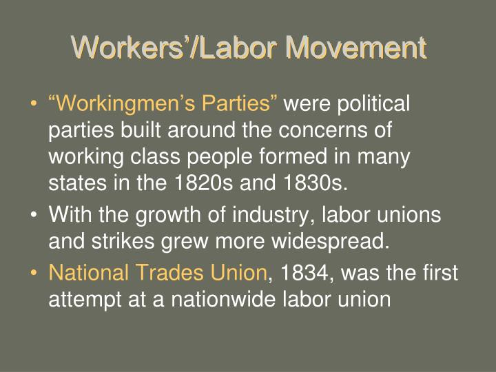Workers'/Labor Movement