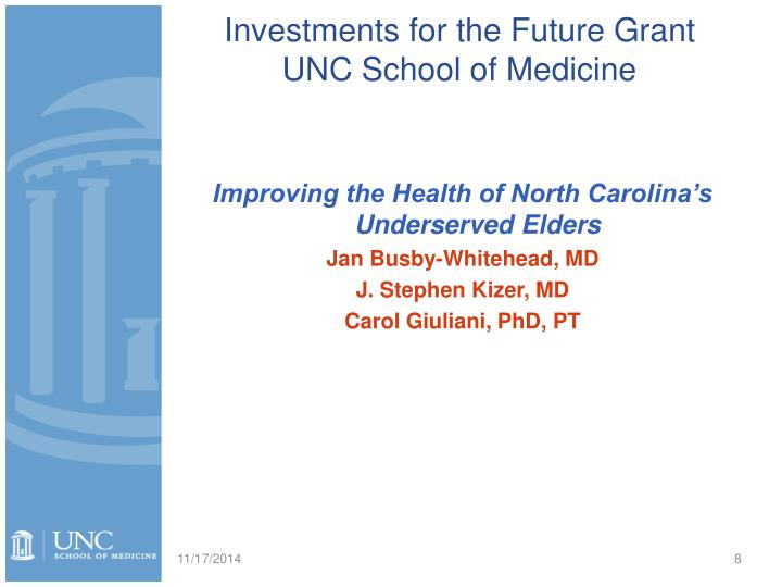 Investments for the Future Grant