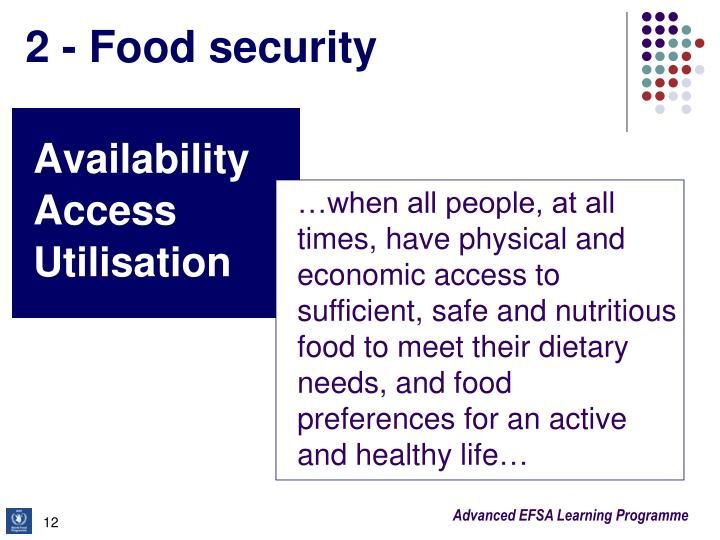 2 - Food security