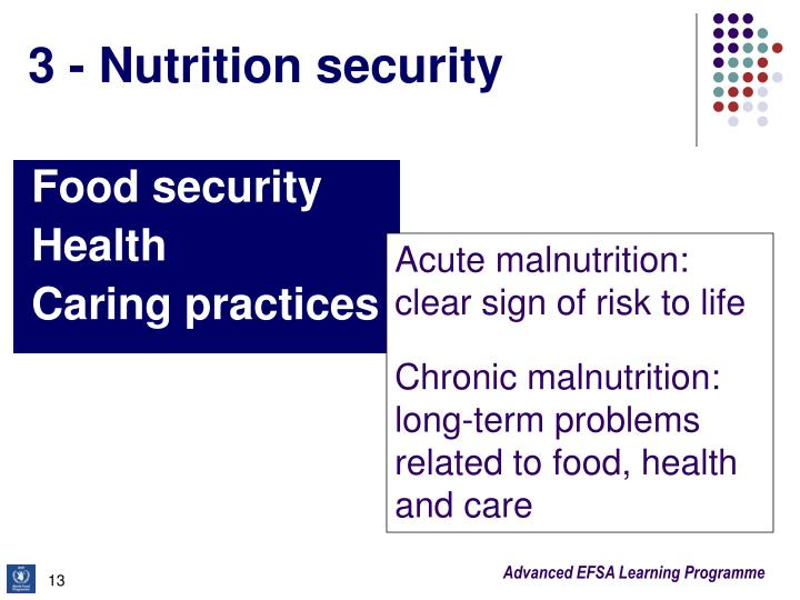 3 - Nutrition security