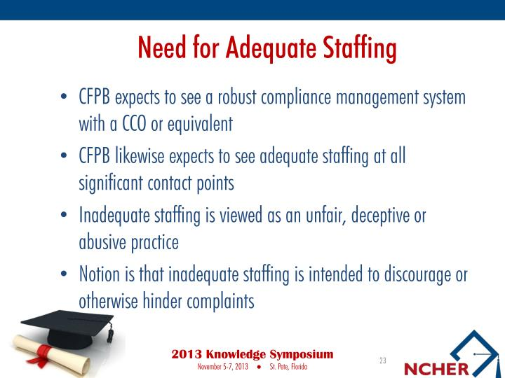 Need for Adequate Staffing
