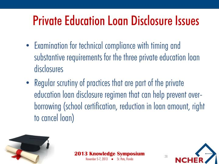 Private Education Loan Disclosure Issues