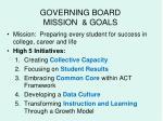 governing board mission goals