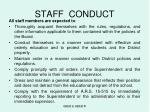 staff conduct1