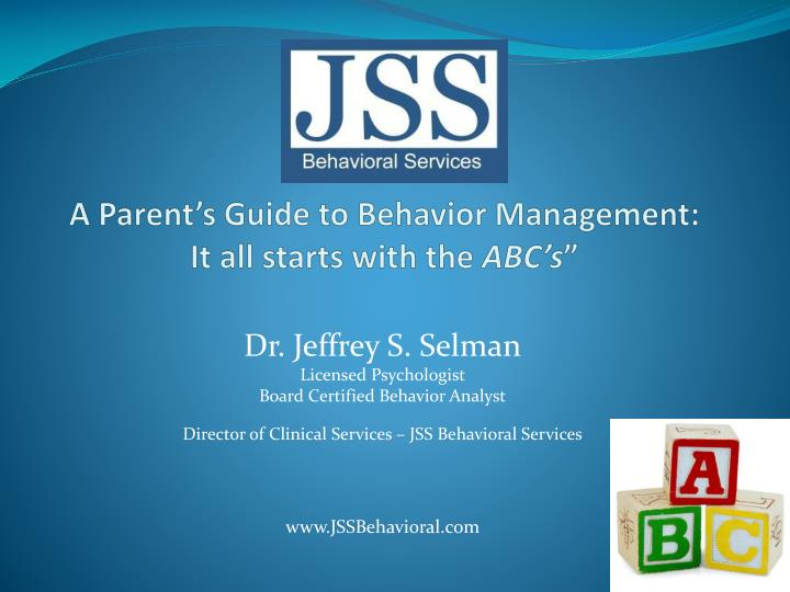 a parent s guide to behavior management it all starts with the abc s n.