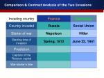 comparison contrast analysis of the two invasions3