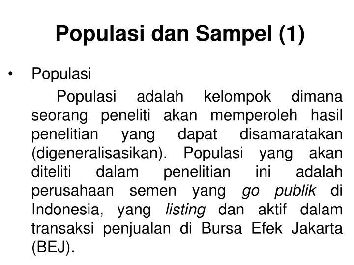 Populasi dan Sampel (1)