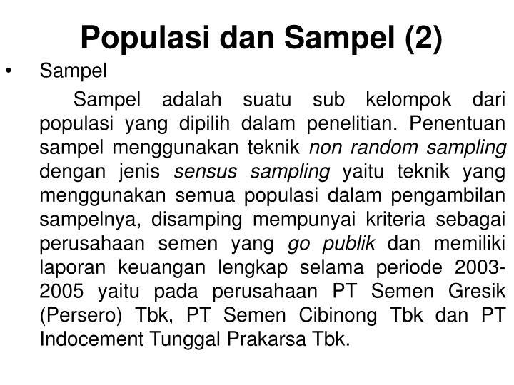 Populasi dan Sampel (2)