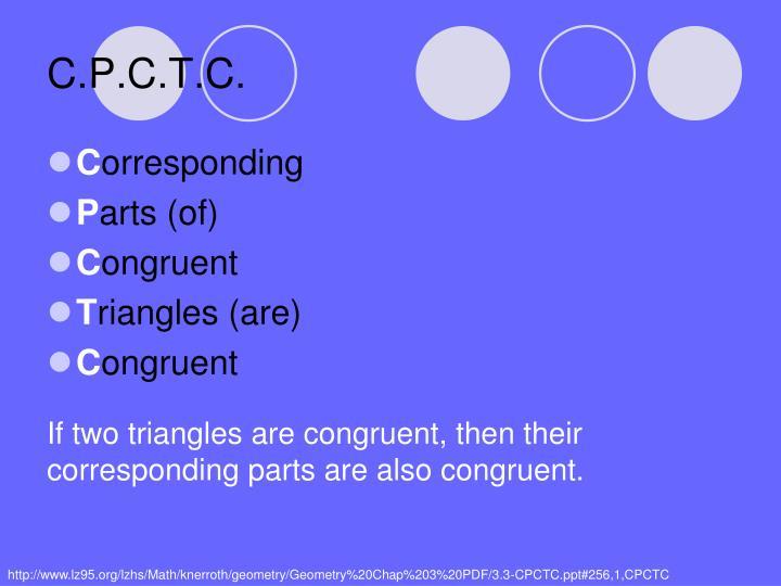 C p c t c
