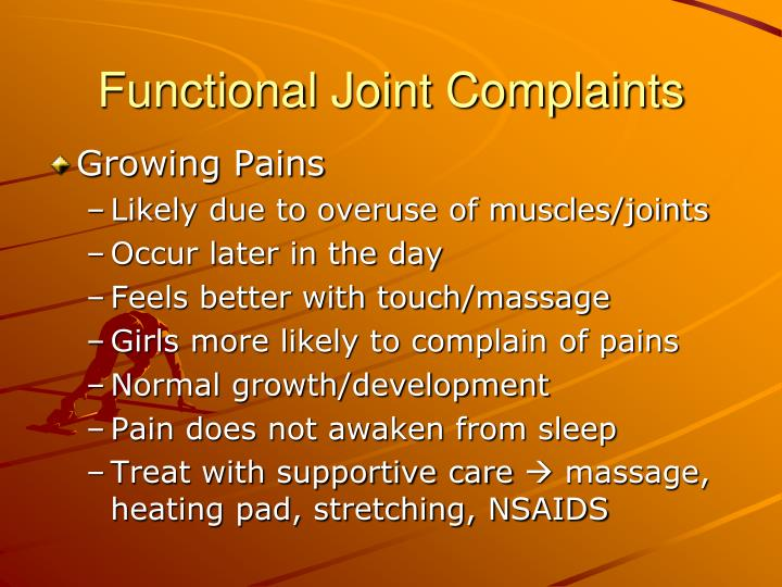 Functional Joint Complaints