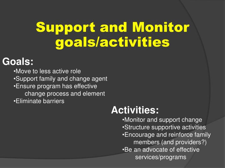 Support and Monitor