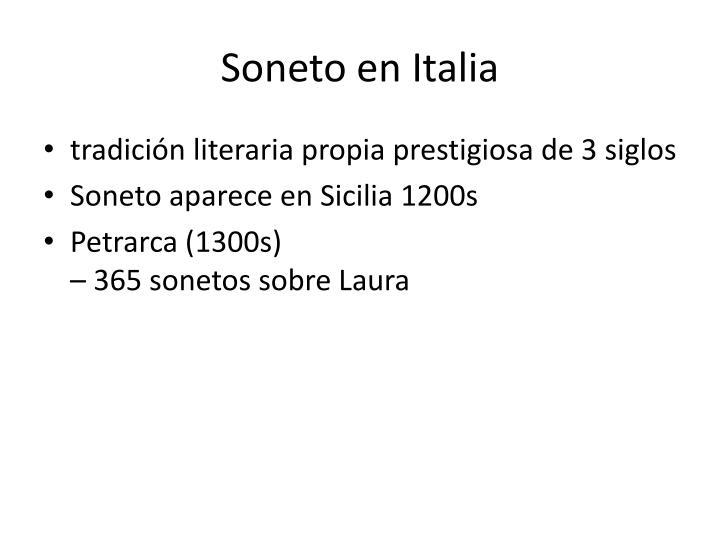 Soneto en Italia