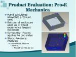 product evaluation pro e mechanica