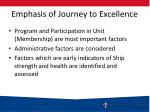 emphasis of journey to excellence1