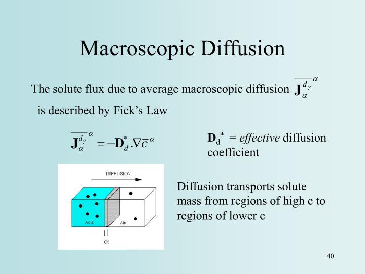 Macroscopic Diffusion