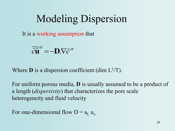 Modeling Dispersion