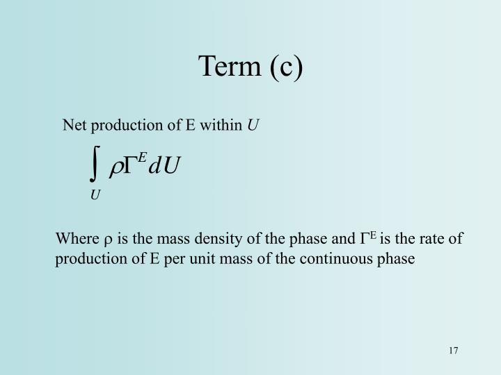 Term (c)