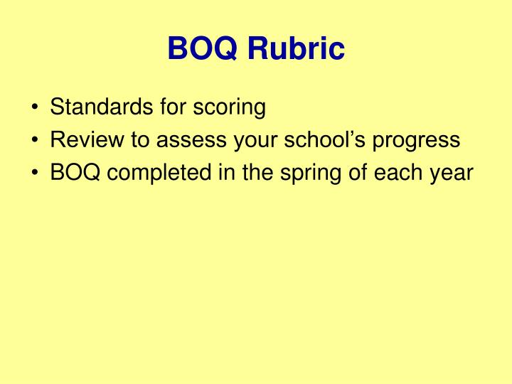 BOQ Rubric