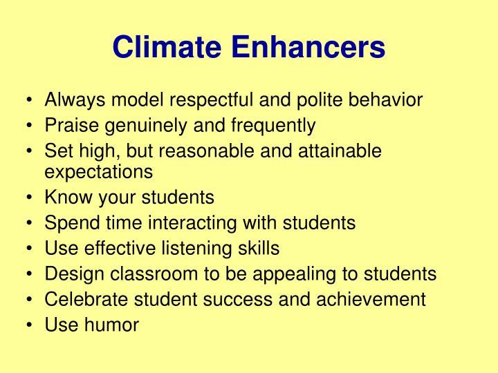 Climate Enhancers