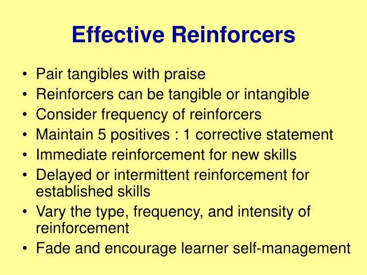 Effective Reinforcers