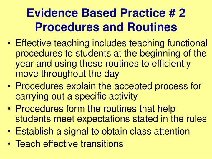 Evidence Based Practice # 2