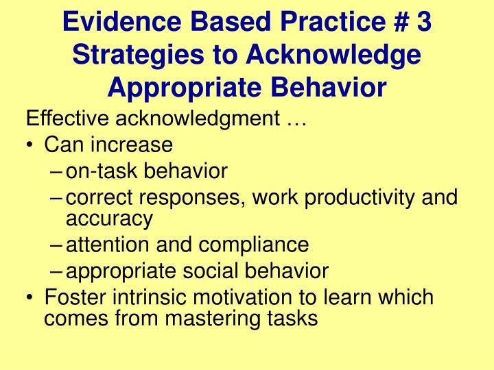 Evidence Based Practice # 3