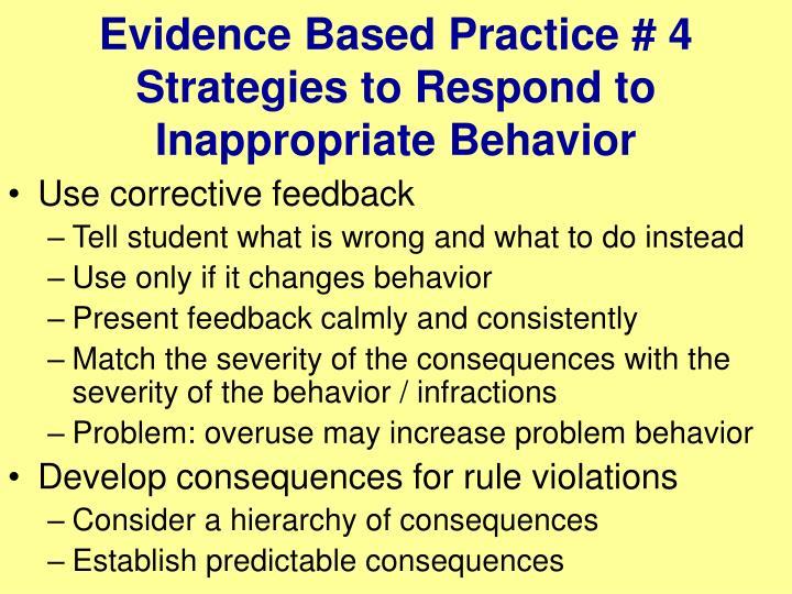 Evidence Based Practice # 4