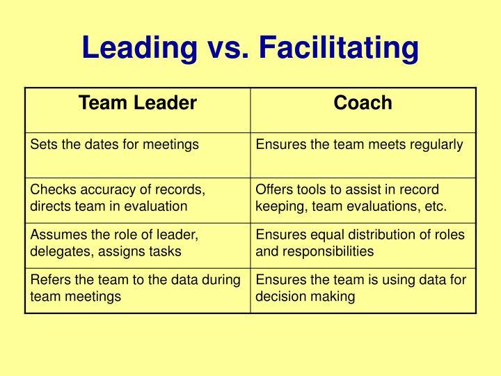 Leading vs. Facilitating