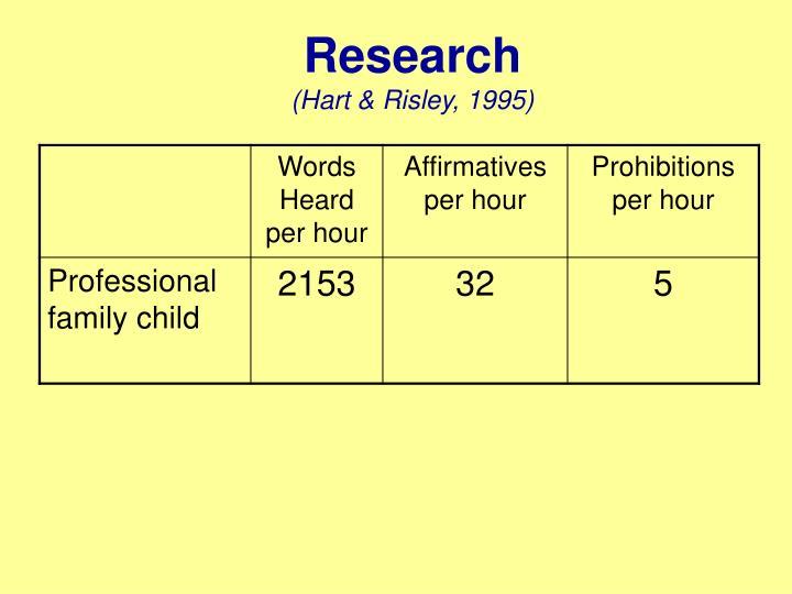 Research hart risley 1995