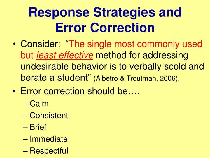 Response Strategies and