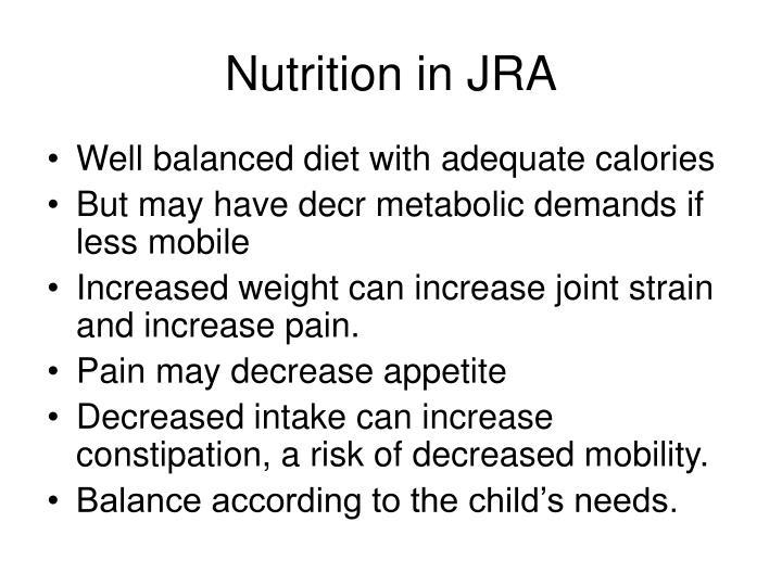 Nutrition in JRA