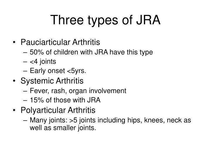Three types of JRA