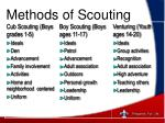 methods of scouting