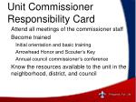 unit commissioner responsibility card4