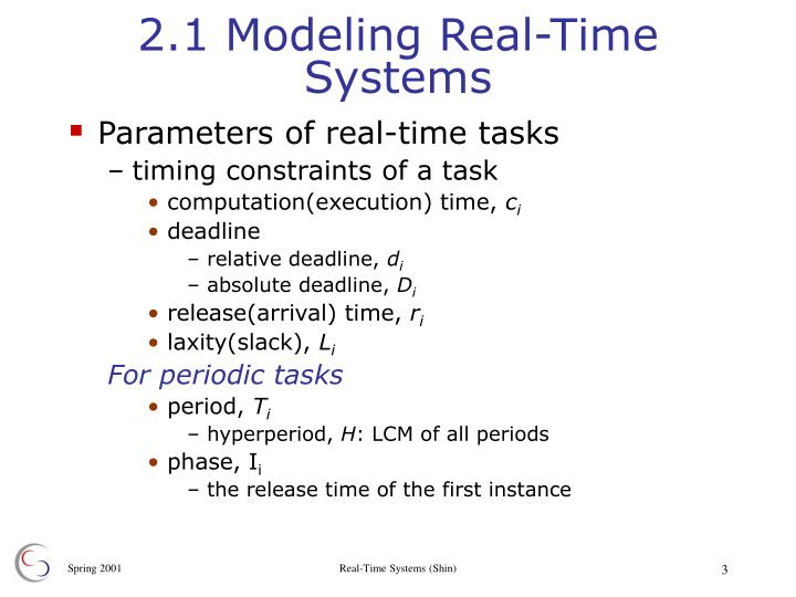 2 1 modeling real time systems