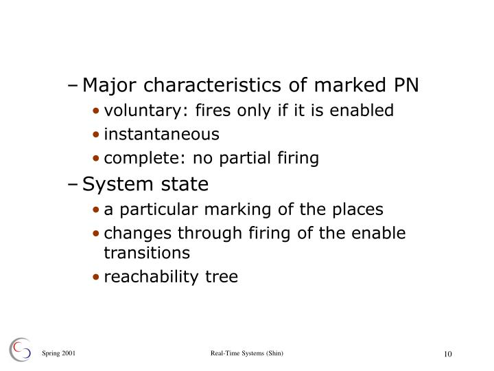 Major characteristics of marked PN