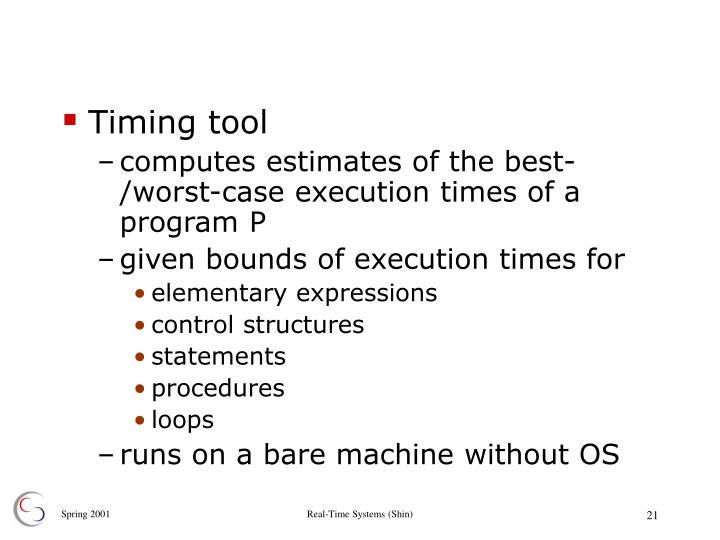 Timing tool