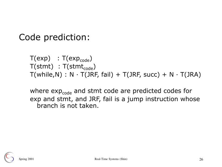 Code prediction: